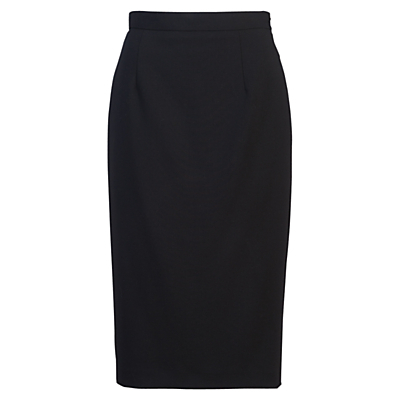 Whisper Light Pencil Skirt - length: below the knee; pattern: plain; style: pencil; fit: tailored/fitted; waist: high rise; predominant colour: black; occasions: work; fibres: polyester/polyamide - stretch; waist detail: feature waist detail; pattern type: fabric; texture group: other - light to midweight; season: s/s 2016; wardrobe: basic