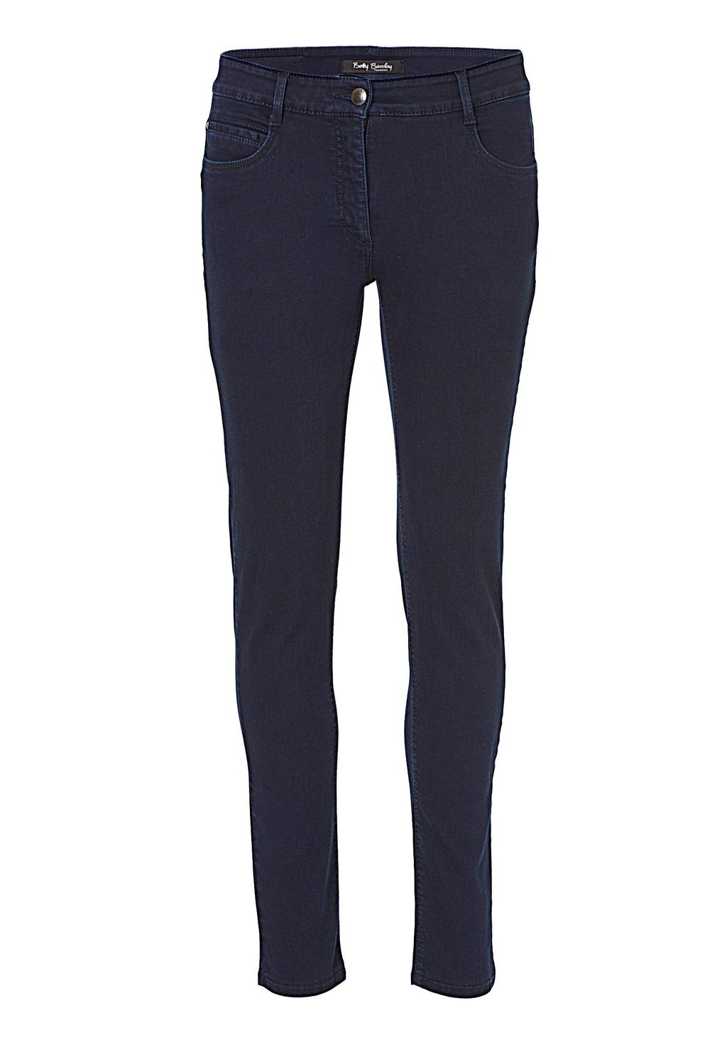 Perfect Slim Five Pocket Jeans, Blue - length: standard; pattern: plain; pocket detail: traditional 5 pocket; style: slim leg; waist: mid/regular rise; predominant colour: navy; occasions: casual; fibres: cotton - stretch; jeans detail: dark wash; texture group: denim; pattern type: fabric; season: s/s 2016; wardrobe: basic