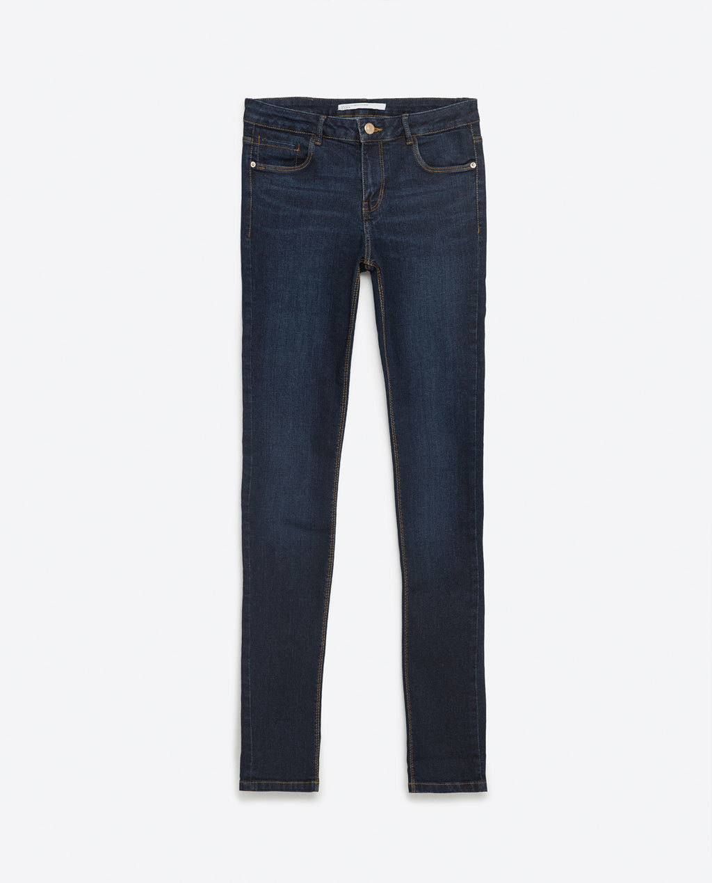 Jeans - length: standard; pattern: plain; pocket detail: traditional 5 pocket; style: slim leg; waist: mid/regular rise; predominant colour: navy; occasions: casual; fibres: cotton - stretch; jeans detail: dark wash; texture group: denim; pattern type: fabric; season: s/s 2016; wardrobe: basic