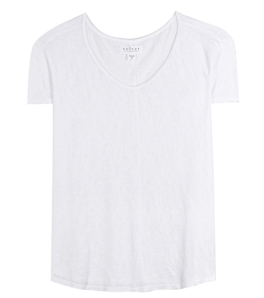 Desmee T Shirt - neckline: v-neck; pattern: plain; style: t-shirt; predominant colour: white; occasions: casual; length: standard; fit: body skimming; sleeve length: short sleeve; sleeve style: standard; pattern type: fabric; texture group: jersey - stretchy/drapey; fibres: viscose/rayon - mix; season: s/s 2016; wardrobe: basic