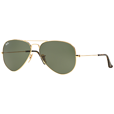 Rb3025 Aviator Sunglasses - predominant colour: gold; occasions: casual, holiday; style: aviator; size: standard; material: chain/metal; pattern: plain; finish: metallic; season: s/s 2016; wardrobe: basic