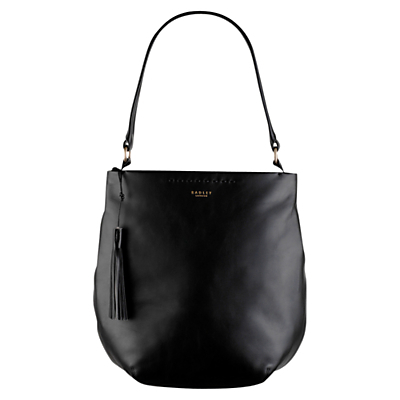 Charlotte Street Large Across Body Bag - predominant colour: black; occasions: casual, work, creative work; type of pattern: small; style: shoulder; length: shoulder (tucks under arm); size: standard; material: leather; pattern: plain; finish: plain; season: s/s 2016; wardrobe: investment