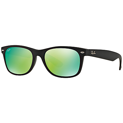 Rb2132 New Wayfarer Square Sunglasses - secondary colour: lime; predominant colour: black; occasions: casual, holiday; style: square; size: standard; material: plastic/rubber; pattern: plain; finish: plain; season: s/s 2016; wardrobe: basic