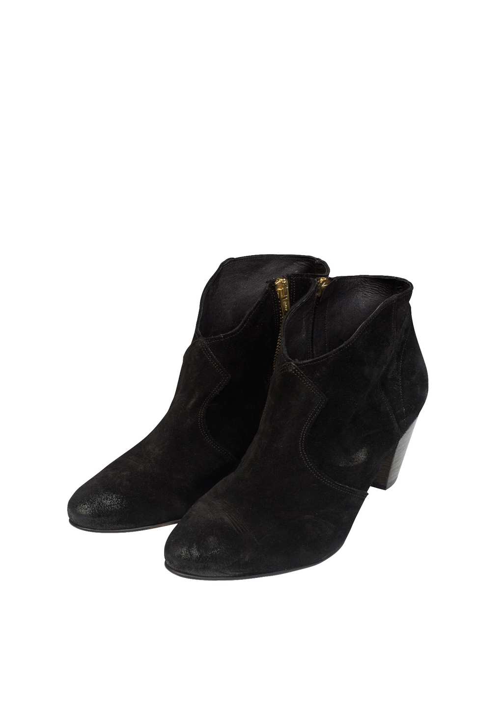 Thornton Ankle Boots - predominant colour: black; occasions: casual, creative work; material: suede; heel height: mid; heel: block; toe: round toe; boot length: ankle boot; style: standard; finish: plain; pattern: plain; season: s/s 2016; wardrobe: basic