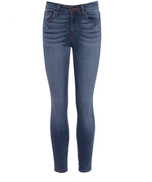 Verdugo Mid Rise Skinny Jeans - style: skinny leg; length: standard; pattern: plain; waist: high rise; predominant colour: denim; occasions: casual, creative work; fibres: cotton - stretch; jeans detail: shading down centre of thigh; texture group: denim; pattern type: fabric; season: s/s 2016; wardrobe: basic
