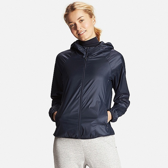 Women Light Pocketable Parka Navy - pattern: plain; length: standard; style: parka; back detail: hood; predominant colour: navy; fit: straight cut (boxy); fibres: polyester/polyamide - mix; collar: shirt collar/peter pan/zip with opening; sleeve length: long sleeve; sleeve style: standard; texture group: technical outdoor fabrics; collar break: high/illusion of break when open; pattern type: fabric; occasions: activity; season: s/s 2016
