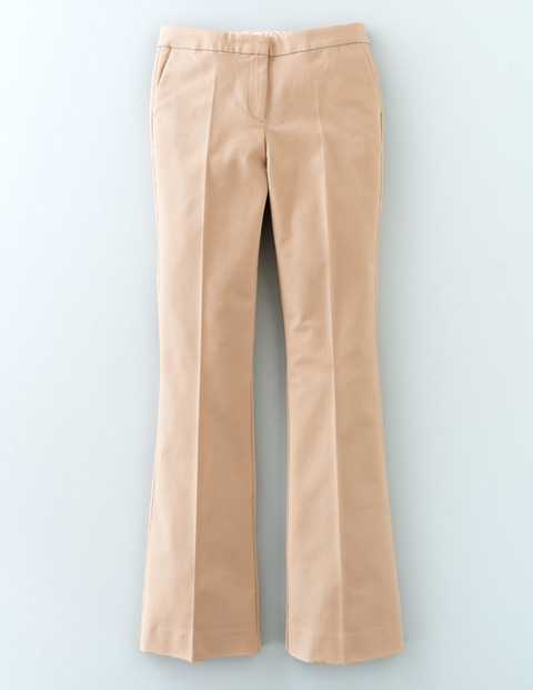 Twickenham Slim Flare Biscuit Women, Biscuit - style: flares; length: standard; pattern: plain; waist: mid/regular rise; predominant colour: nude; occasions: casual, creative work; fibres: cotton - stretch; texture group: denim; pattern type: fabric; season: s/s 2016; wardrobe: highlight