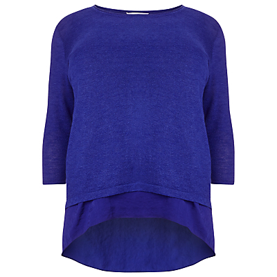 Caroline Jumper, Cobalt - pattern: plain; style: standard; predominant colour: royal blue; occasions: casual, creative work; length: standard; fit: standard fit; neckline: crew; sleeve length: 3/4 length; sleeve style: standard; texture group: knits/crochet; pattern type: knitted - fine stitch; fibres: viscose/rayon - mix; season: s/s 2016