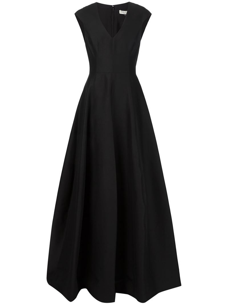 V Neck Evening Gown, Women's, Black - style: ballgown; neckline: v-neck; sleeve style: capped; fit: fitted at waist; waist detail: fitted waist; predominant colour: black; length: floor length; fibres: cotton - mix; occasions: occasion; sleeve length: short sleeve; pattern type: fabric; pattern size: standard; pattern: florals; texture group: woven light midweight; season: s/s 2016; wardrobe: event