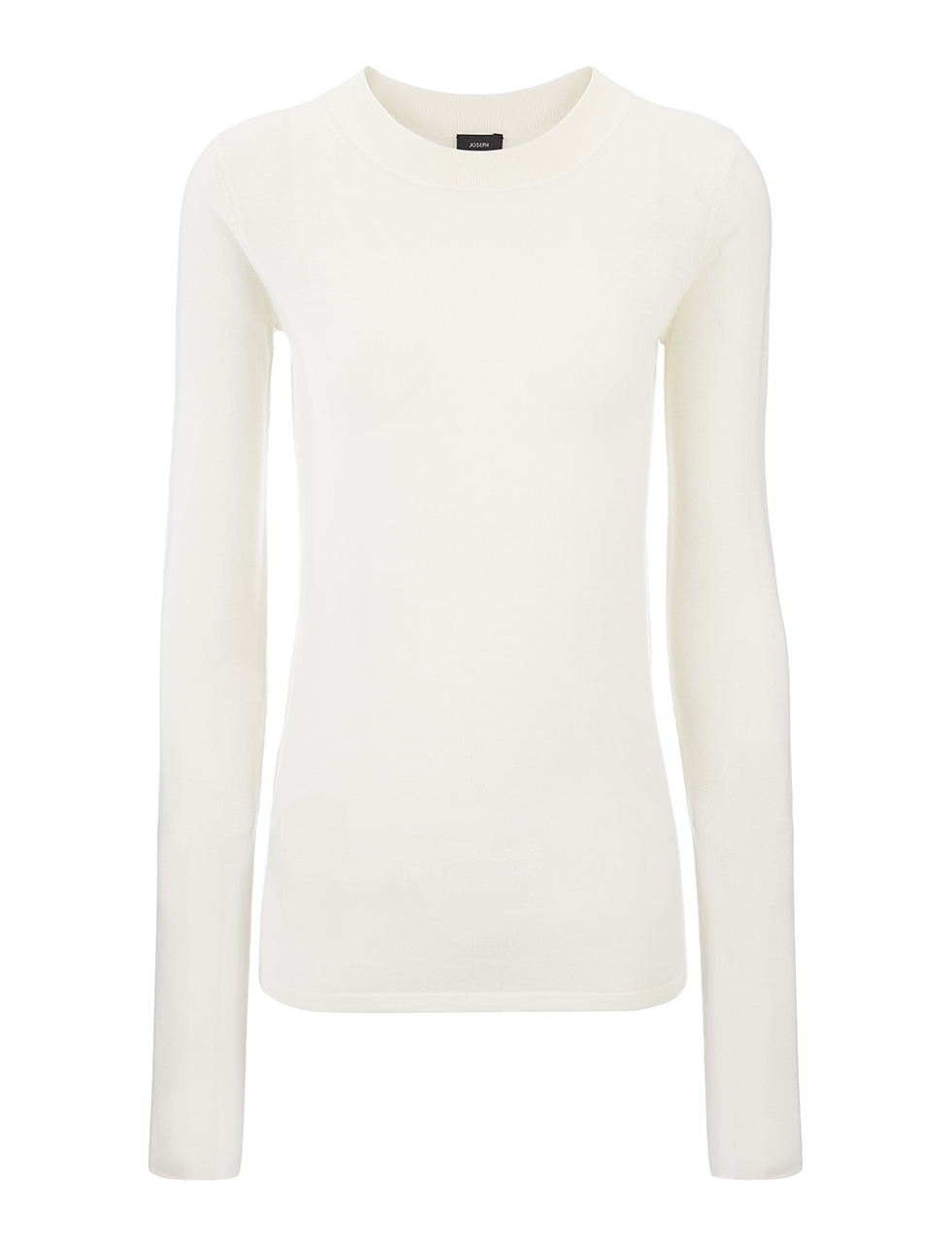 Transparent Knit Top In Ecru - pattern: plain; predominant colour: ivory/cream; occasions: casual; length: standard; style: top; fibres: wool - 100%; fit: body skimming; neckline: crew; sleeve length: long sleeve; sleeve style: standard; texture group: knits/crochet; pattern type: fabric; season: s/s 2016; wardrobe: basic