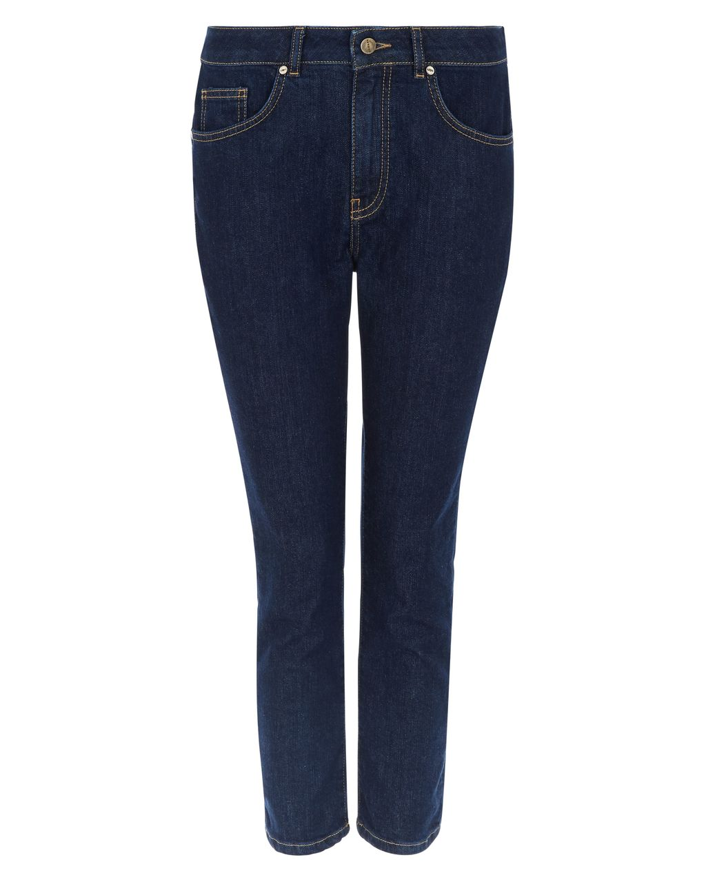 Skinny 7/8 Jeans, Blue - style: skinny leg; pattern: plain; pocket detail: traditional 5 pocket; waist: mid/regular rise; predominant colour: navy; occasions: casual; length: calf length; fibres: cotton - stretch; texture group: denim; pattern type: fabric; season: s/s 2016