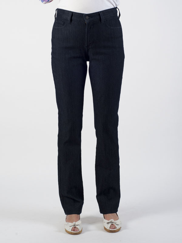 Nydj Dark Denim Lift Tuck® Slim Leg Jeans - length: standard; pattern: plain; waist: high rise; pocket detail: traditional 5 pocket; style: slim leg; predominant colour: navy; occasions: casual; fibres: cotton - stretch; jeans detail: dark wash; texture group: denim; pattern type: fabric; season: s/s 2016; wardrobe: basic