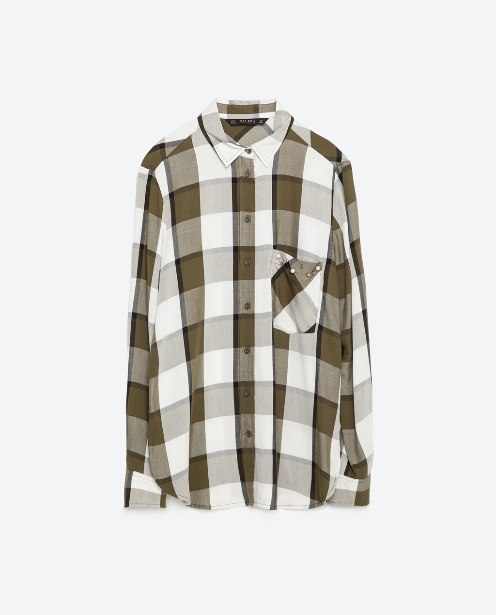 Check Shirt - neckline: shirt collar/peter pan/zip with opening; pattern: checked/gingham; length: below the bottom; style: shirt; secondary colour: white; predominant colour: chocolate brown; occasions: casual; fibres: viscose/rayon - 100%; fit: straight cut; sleeve length: long sleeve; sleeve style: standard; pattern type: fabric; pattern size: standard; texture group: woven light midweight; season: s/s 2016; wardrobe: highlight