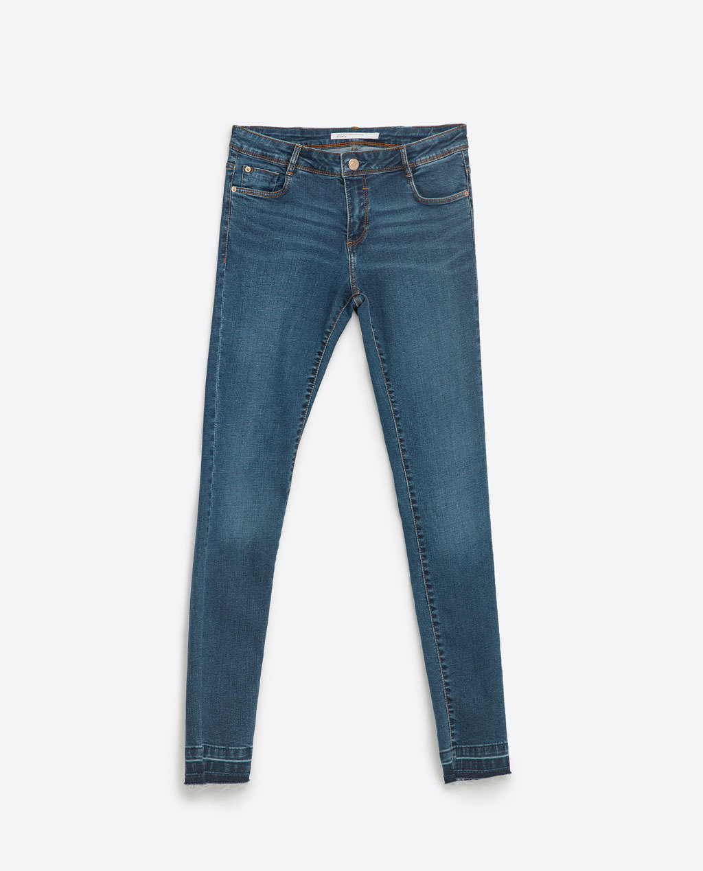 Essential Fits Jeans - style: skinny leg; pattern: plain; pocket detail: traditional 5 pocket; waist: mid/regular rise; predominant colour: denim; occasions: casual, creative work; length: ankle length; fibres: cotton - stretch; jeans detail: whiskering; texture group: denim; pattern type: fabric; season: s/s 2016; wardrobe: basic