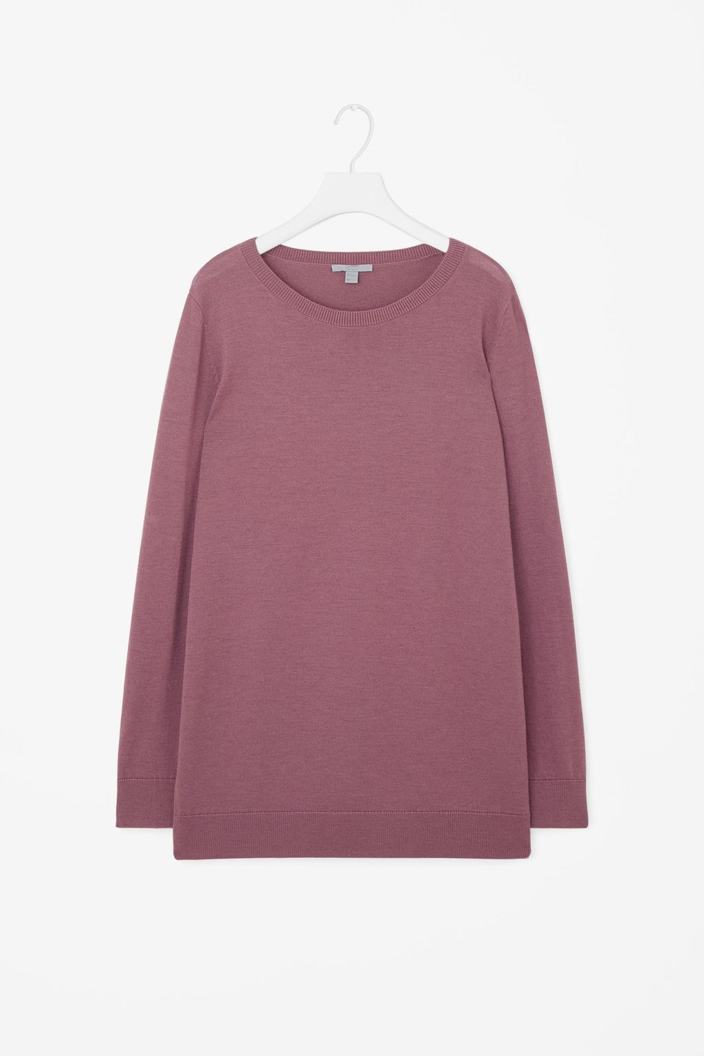 Contrast Back Knit Jumper - neckline: round neck; pattern: plain; style: standard; predominant colour: lilac; occasions: casual; length: standard; fibres: wool - 100%; fit: slim fit; sleeve length: long sleeve; sleeve style: standard; texture group: knits/crochet; pattern type: fabric; season: s/s 2016; wardrobe: highlight