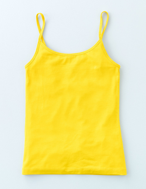 Plain Cami Mimosa Women, Mimosa - sleeve style: spaghetti straps; pattern: plain; length: cropped; style: camisole; predominant colour: yellow; occasions: casual; neckline: scoop; fibres: cotton - 100%; fit: body skimming; sleeve length: sleeveless; pattern type: fabric; texture group: jersey - stretchy/drapey; season: s/s 2016; wardrobe: highlight