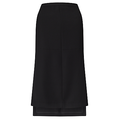 Side Split Skirt, Black - length: calf length; pattern: plain; fit: loose/voluminous; waist: high rise; predominant colour: black; style: a-line; fibres: polyester/polyamide - 100%; pattern type: fabric; texture group: other - light to midweight; occasions: creative work; season: s/s 2016; wardrobe: basic