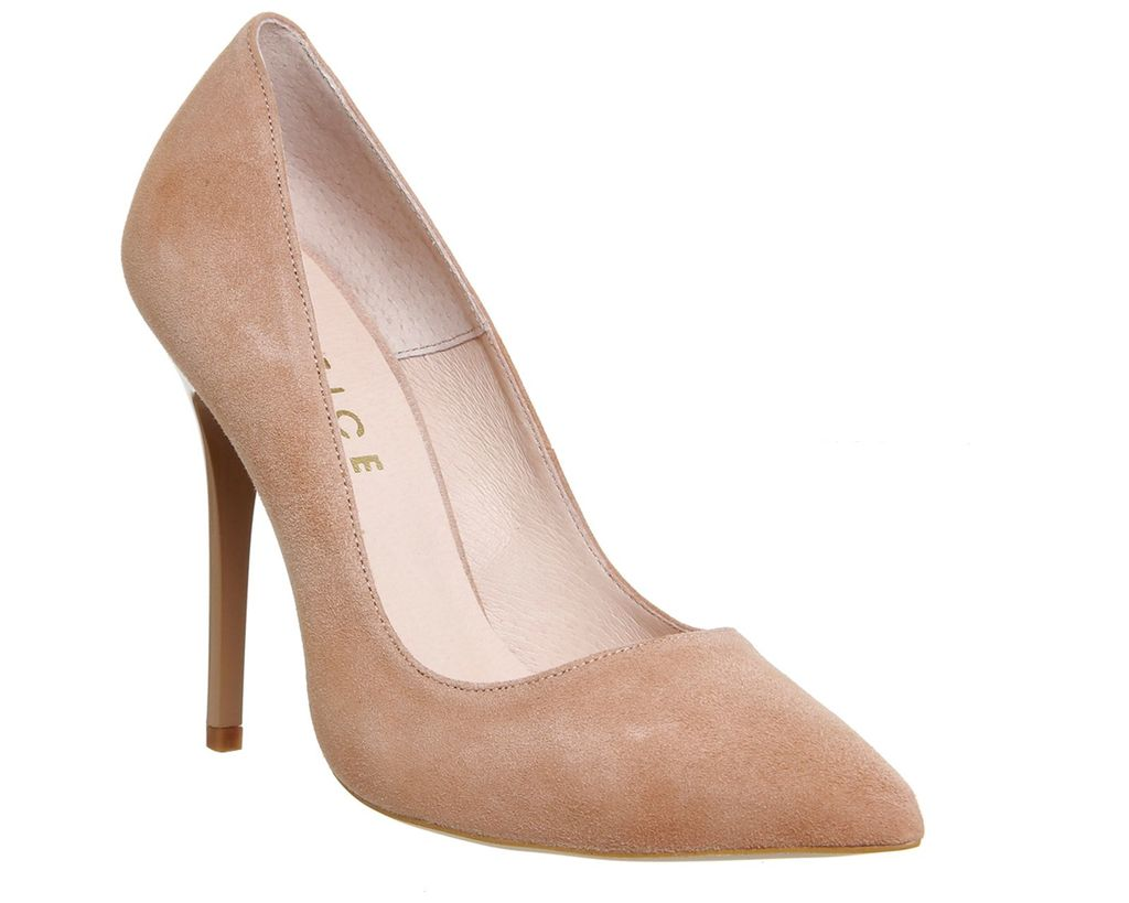 Onto Pointed Court Heels, Nude - predominant colour: nude; occasions: occasion; material: suede; heel height: high; heel: stiletto; toe: pointed toe; style: courts; finish: plain; pattern: plain; season: s/s 2016; wardrobe: event