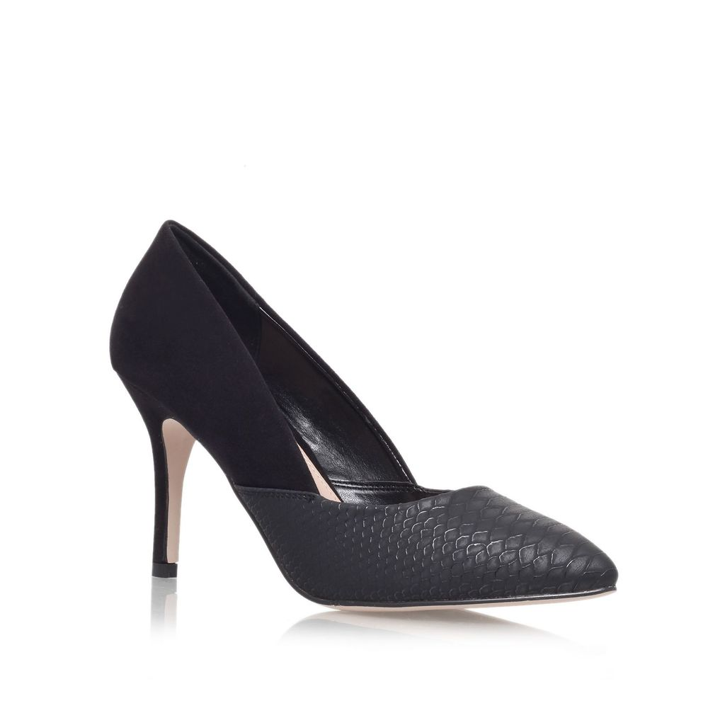 Savannah High Heel Court Shoes, Black - predominant colour: black; occasions: work, creative work; material: faux leather; heel height: high; heel: stiletto; toe: pointed toe; style: courts; finish: plain; pattern: plain; season: s/s 2016