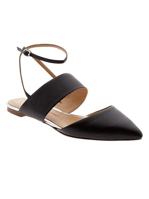 Abilene Ankle Strap Flat Black - predominant colour: black; occasions: casual, creative work; material: leather; heel height: flat; ankle detail: ankle strap; toe: pointed toe; style: ballerinas / pumps; finish: plain; pattern: plain; season: s/s 2016; wardrobe: basic