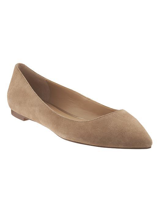 Angela Pointed Toe Flat Mocha Latte - predominant colour: taupe; occasions: casual, creative work; material: suede; heel height: flat; toe: pointed toe; style: ballerinas / pumps; finish: plain; pattern: plain; season: s/s 2016; wardrobe: basic