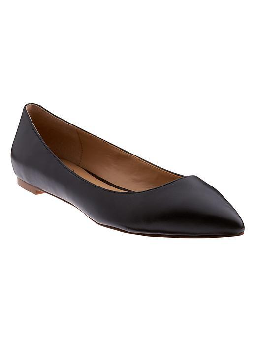 Angela Pointed Toe Flat Black - predominant colour: black; occasions: casual, creative work; material: leather; heel height: flat; toe: pointed toe; style: ballerinas / pumps; finish: plain; pattern: plain; season: s/s 2016; wardrobe: basic