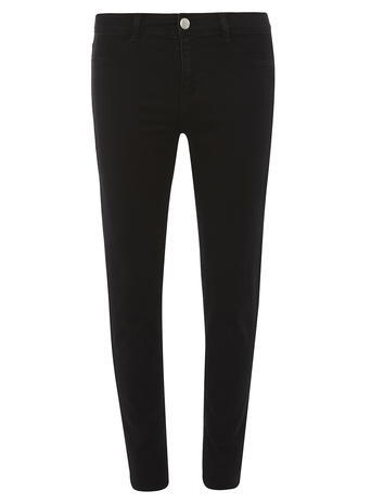 Womens Black 'frankie' Ultra Soft Jeggings Black - style: skinny leg; length: standard; pattern: plain; pocket detail: traditional 5 pocket; waist: mid/regular rise; predominant colour: black; occasions: casual; fibres: cotton - stretch; texture group: denim; pattern type: fabric; season: s/s 2016; wardrobe: basic