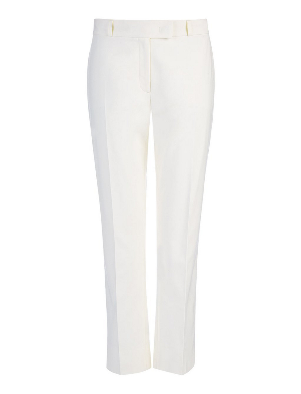 New Cotton Compact Bing Court Trouser In Off White - length: standard; pattern: plain; waist: mid/regular rise; predominant colour: white; fibres: cotton - stretch; texture group: cotton feel fabrics; fit: straight leg; pattern type: fabric; style: standard; occasions: creative work; season: s/s 2016; wardrobe: basic