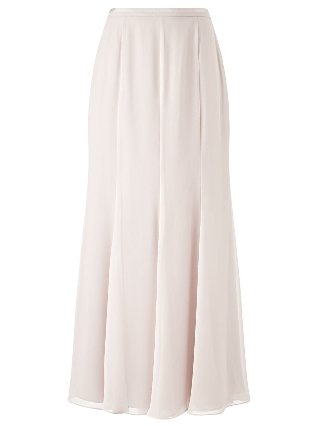 Gloria Grosgrain Maxi Skirt, Neutral - pattern: plain; length: ankle length; waist: high rise; fit: bias; predominant colour: ivory/cream; style: maxi skirt; fibres: polyester/polyamide - 100%; occasions: occasion; hip detail: soft pleats at hip/draping at hip/flared at hip; texture group: sheer fabrics/chiffon/organza etc.; pattern type: fabric; season: s/s 2016; wardrobe: event