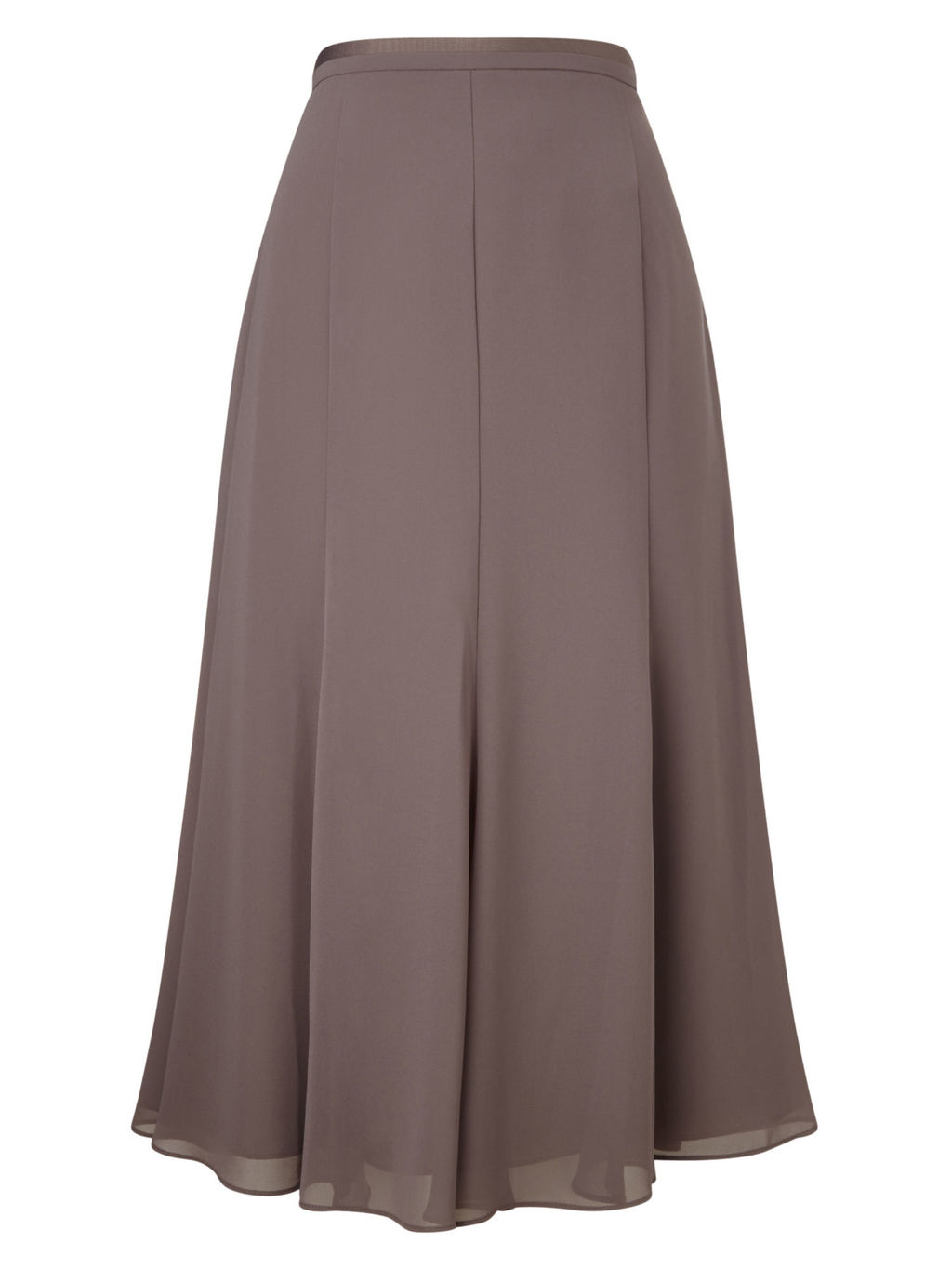 Gloria Grosgrain Skirt - length: calf length; pattern: plain; style: bias cut; waist: high rise; fit: bias; predominant colour: taupe; fibres: polyester/polyamide - 100%; occasions: occasion; hip detail: soft pleats at hip/draping at hip/flared at hip; waist detail: narrow waistband; texture group: sheer fabrics/chiffon/organza etc.; pattern type: fabric; season: s/s 2016