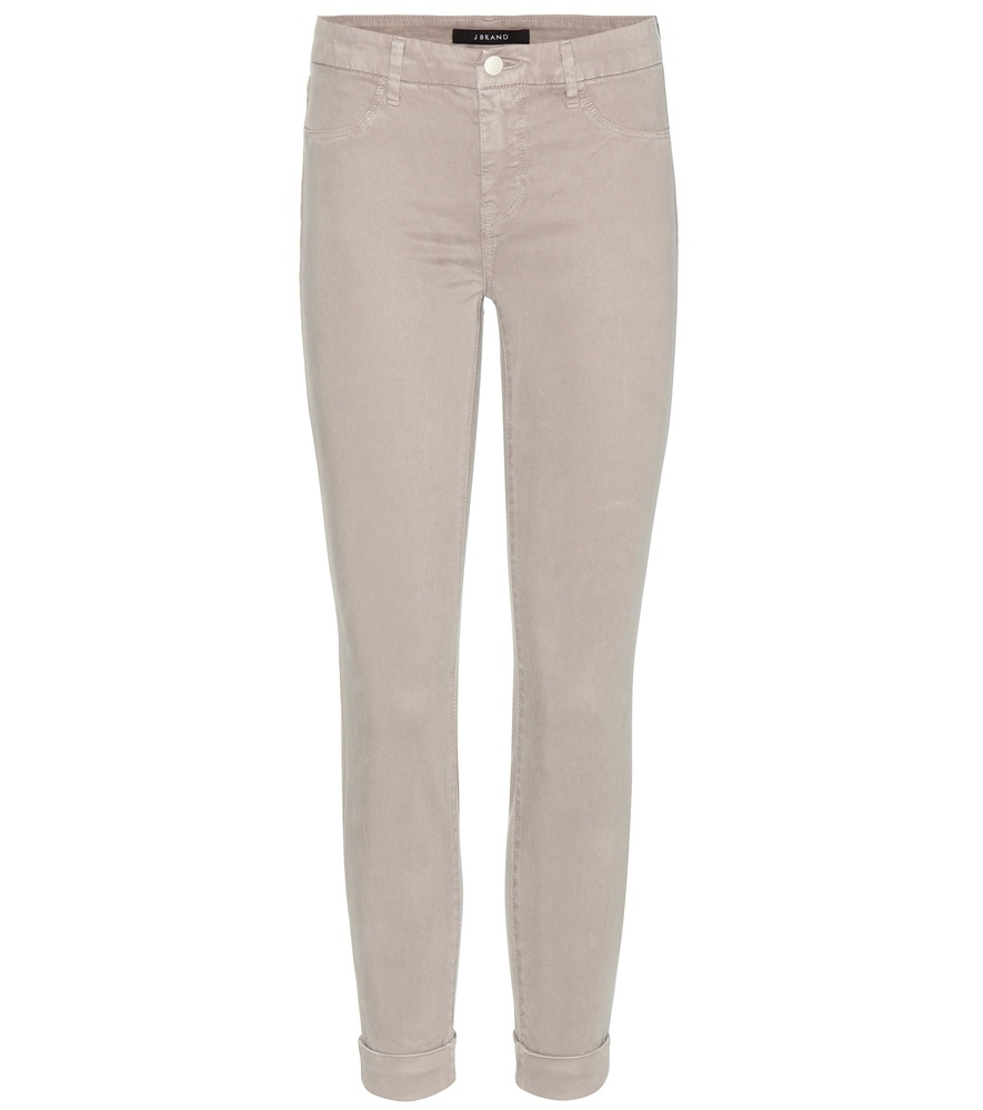 Anja Cuffed Cropped Skinny Trousers - length: standard; pattern: plain; waist: mid/regular rise; predominant colour: stone; occasions: casual, creative work; fibres: viscose/rayon - stretch; fit: slim leg; pattern type: fabric; texture group: other - light to midweight; style: standard; season: s/s 2016; wardrobe: basic