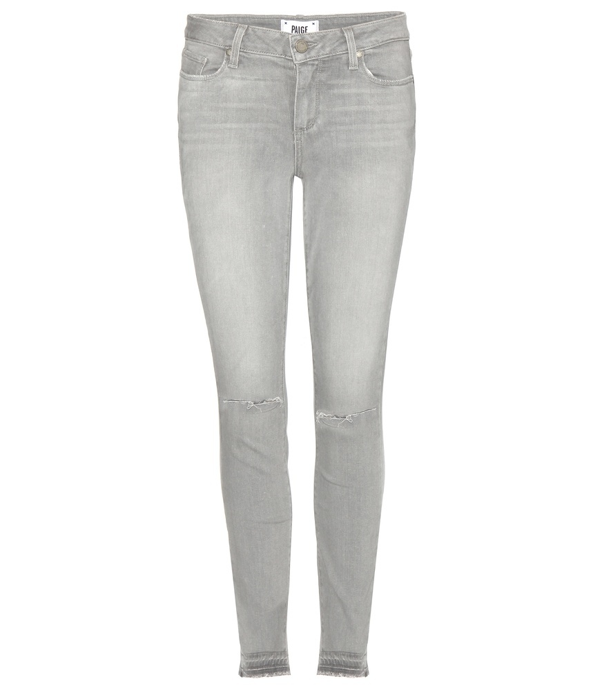 Verdugo Ankle Skinny Jeans - style: skinny leg; length: standard; pattern: plain; pocket detail: traditional 5 pocket; waist: mid/regular rise; predominant colour: light grey; occasions: casual; fibres: cotton - stretch; texture group: denim; pattern type: fabric; season: s/s 2016