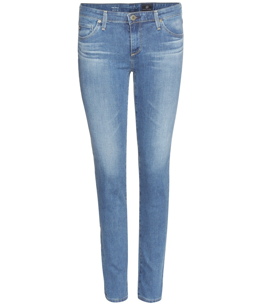 Stilt Skinny Jeans - style: skinny leg; length: standard; pattern: plain; pocket detail: traditional 5 pocket; waist: mid/regular rise; predominant colour: pale blue; occasions: casual; fibres: cotton - stretch; jeans detail: whiskering, shading down centre of thigh; texture group: denim; pattern type: fabric; season: s/s 2016; wardrobe: basic