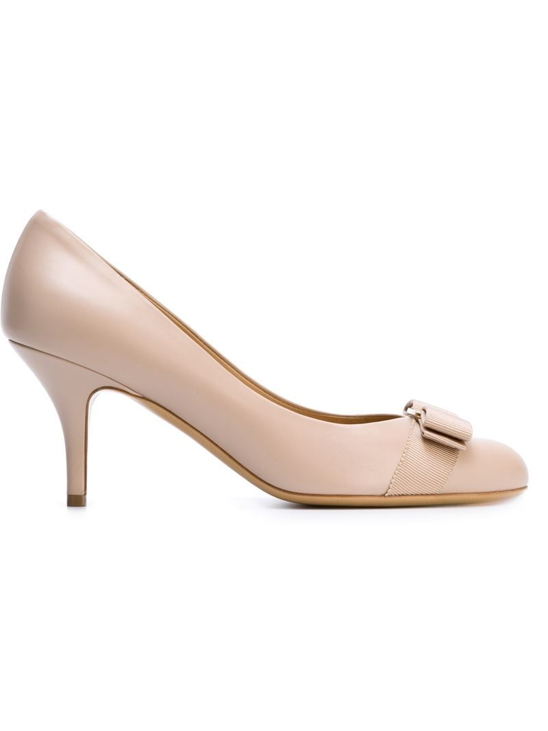 'carla' Pumps, Women's, Nude/Neutrals - predominant colour: nude; occasions: work, occasion; material: leather; heel height: high; heel: stiletto; toe: round toe; style: courts; finish: plain; pattern: plain; embellishment: bow; season: s/s 2016; wardrobe: investment
