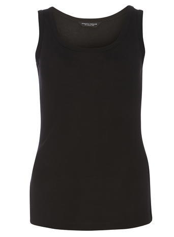 Womens Black Chunky Bind Vest Black - neckline: round neck; pattern: plain; sleeve style: sleeveless; style: vest top; predominant colour: black; occasions: casual; length: standard; fibres: viscose/rayon - 100%; fit: body skimming; sleeve length: sleeveless; pattern type: fabric; texture group: jersey - stretchy/drapey; season: s/s 2016; wardrobe: basic