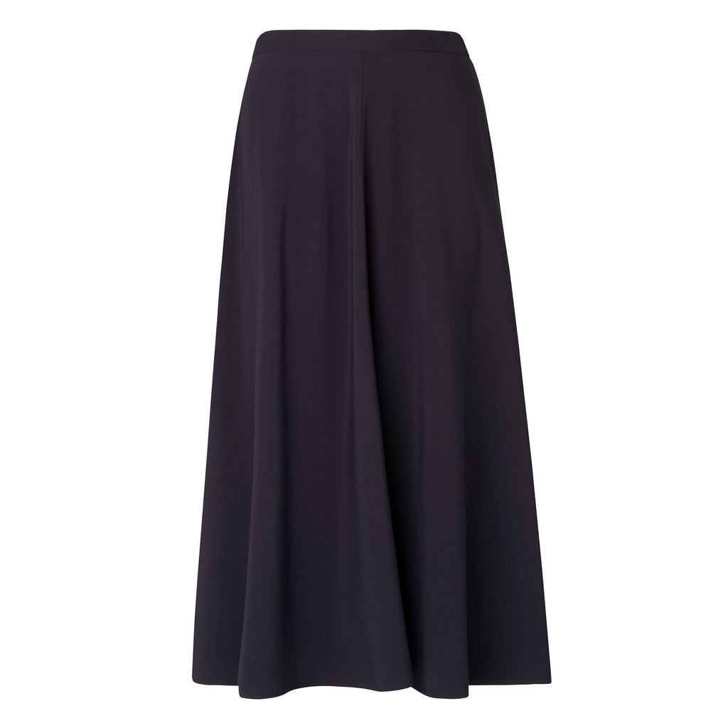 Tally Skirt, Blue - length: calf length; pattern: plain; fit: loose/voluminous; waist: mid/regular rise; predominant colour: navy; occasions: casual, creative work; style: maxi skirt; fibres: viscose/rayon - 100%; pattern type: fabric; texture group: other - light to midweight; season: s/s 2016; wardrobe: basic