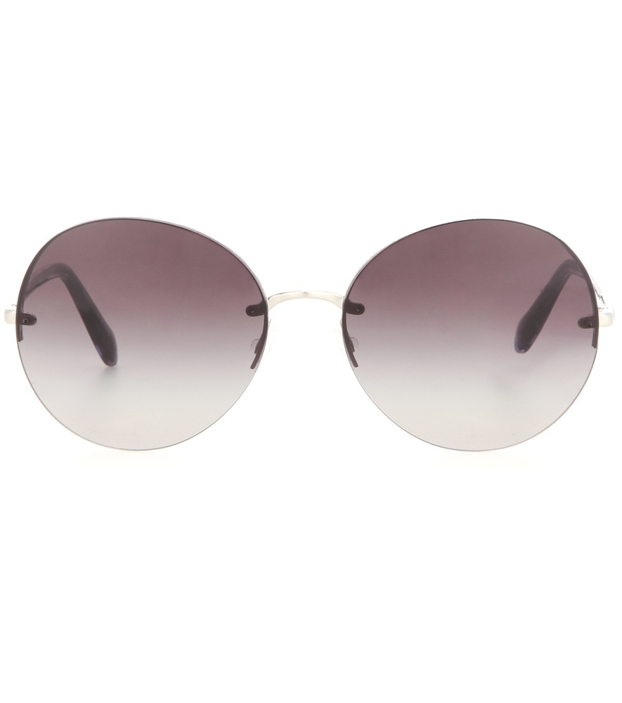 Jorie Round Sunglasses - predominant colour: gold; occasions: casual, holiday; style: round; size: standard; material: chain/metal; pattern: plain; finish: plain; season: s/s 2016; wardrobe: basic