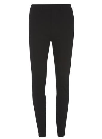 Womens Black High Waisted 'eden' Ultra Soft Jeggings Black - style: skinny leg; length: standard; pattern: plain; waist: high rise; predominant colour: black; occasions: casual, creative work; fibres: cotton - stretch; texture group: denim; pattern type: fabric; season: s/s 2016; wardrobe: basic