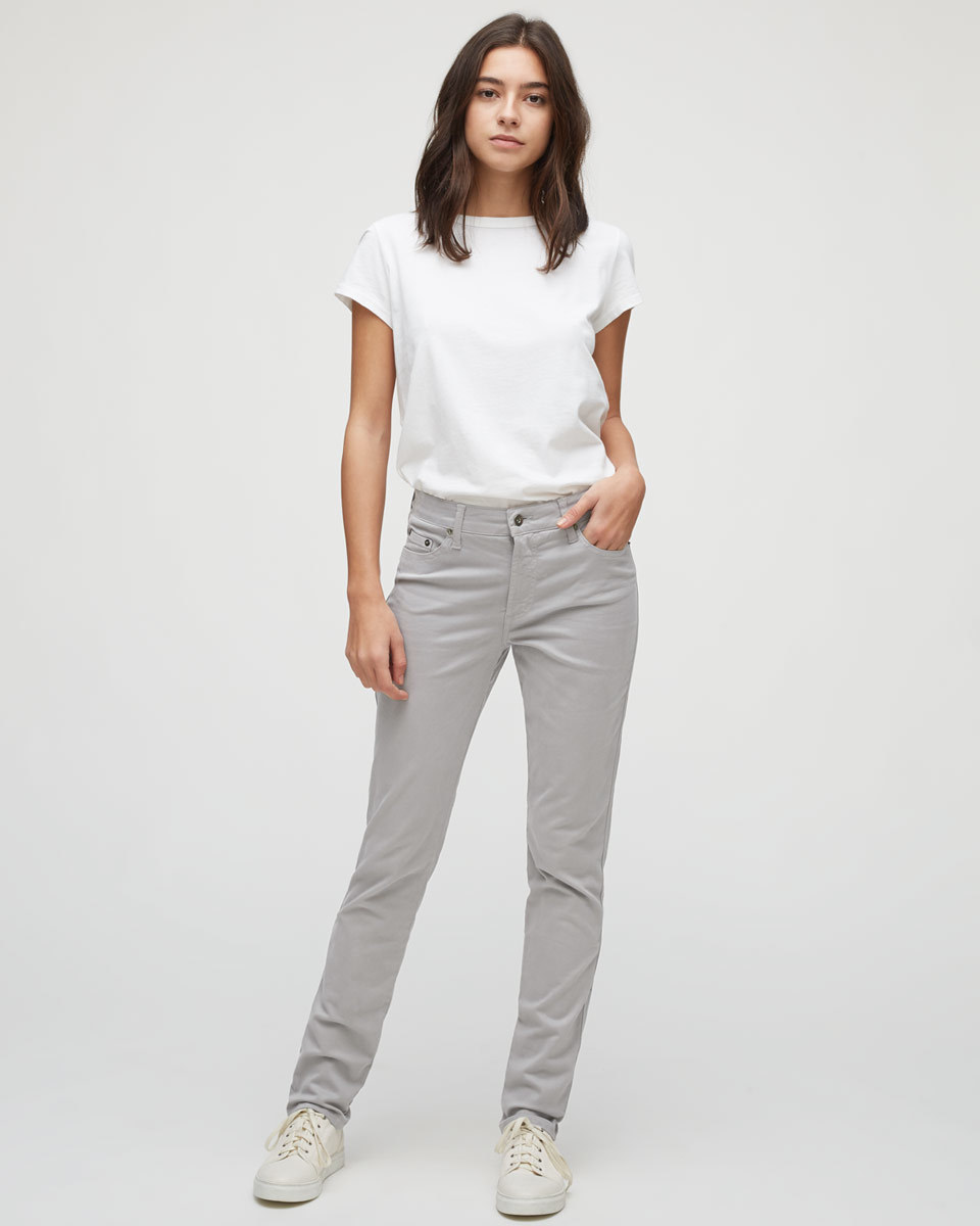 Twill Straight Leg Jeans - style: straight leg; length: standard; pattern: plain; pocket detail: traditional 5 pocket; waist: mid/regular rise; predominant colour: light grey; occasions: casual, creative work; fibres: cotton - stretch; texture group: denim; pattern type: fabric; season: s/s 2016; wardrobe: highlight