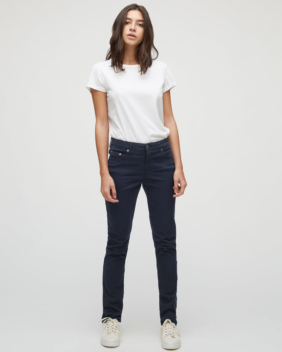 Twill Straight Leg Jeans - style: straight leg; length: standard; pattern: plain; pocket detail: traditional 5 pocket; waist: mid/regular rise; predominant colour: navy; occasions: casual; fibres: cotton - stretch; jeans detail: dark wash; texture group: denim; pattern type: fabric; season: s/s 2016; wardrobe: basic