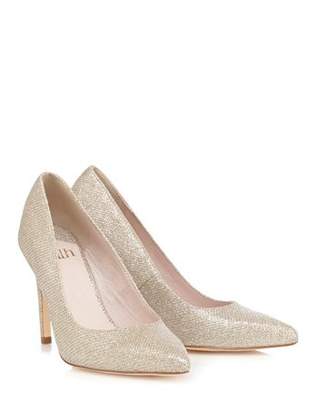 Basic Point Court Shoe - predominant colour: gold; occasions: evening, occasion; material: faux leather; heel height: high; heel: stiletto; toe: pointed toe; style: courts; finish: metallic; pattern: patterned/print; season: s/s 2016; trends: shiny surfaces