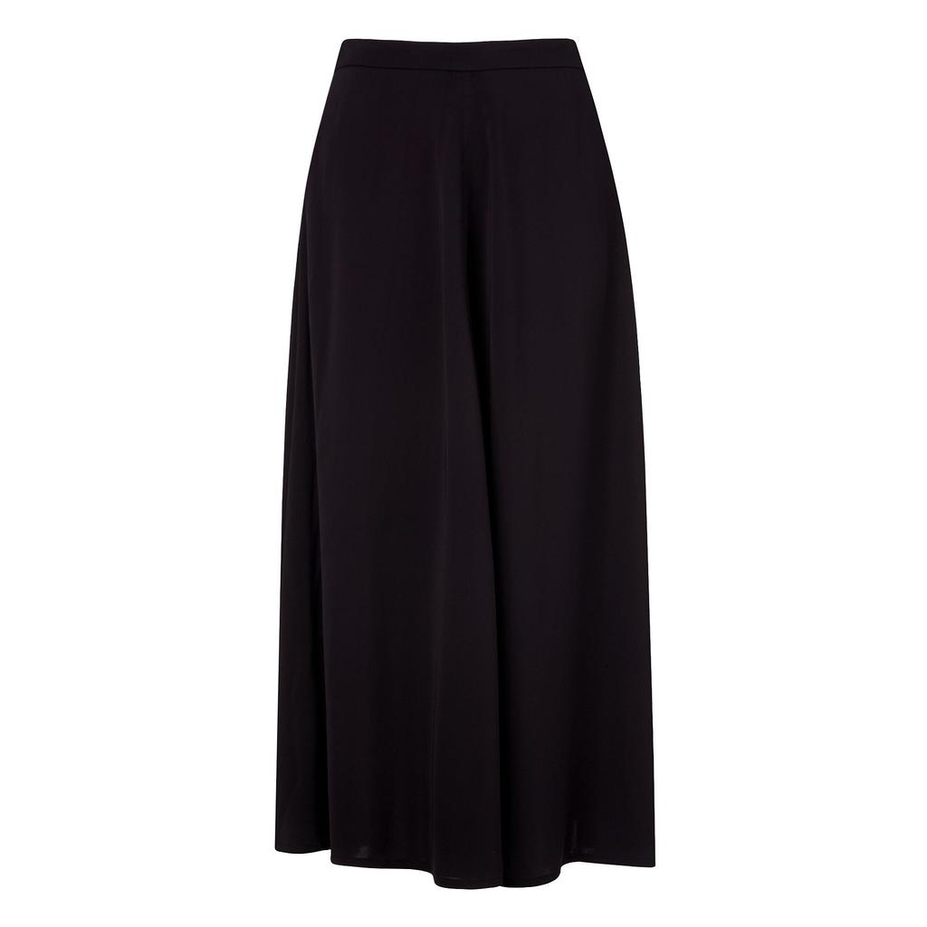 Tally Navy Midi Skirt Blue Sloane Blue - length: below the knee; pattern: plain; style: full/prom skirt; fit: loose/voluminous; waist: high rise; predominant colour: navy; occasions: work; fibres: viscose/rayon - stretch; hip detail: soft pleats at hip/draping at hip/flared at hip; pattern type: fabric; texture group: other - light to midweight; season: s/s 2016