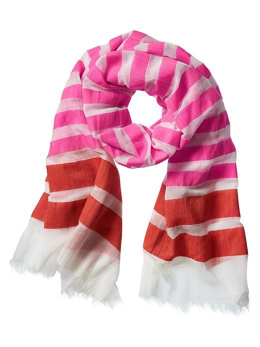 Ellie Scarf Flamingo Pink - predominant colour: pink; secondary colour: true red; occasions: casual, creative work; type of pattern: light; style: regular; size: standard; material: fabric; pattern: colourblock; season: s/s 2016; wardrobe: highlight