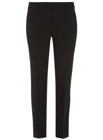 Womens ** Tall Black Ankle Grazer Trousers Black - pattern: plain; waist: mid/regular rise; predominant colour: black; occasions: work, creative work; length: ankle length; fibres: polyester/polyamide - mix; fit: slim leg; pattern type: fabric; texture group: woven light midweight; style: standard; season: s/s 2016