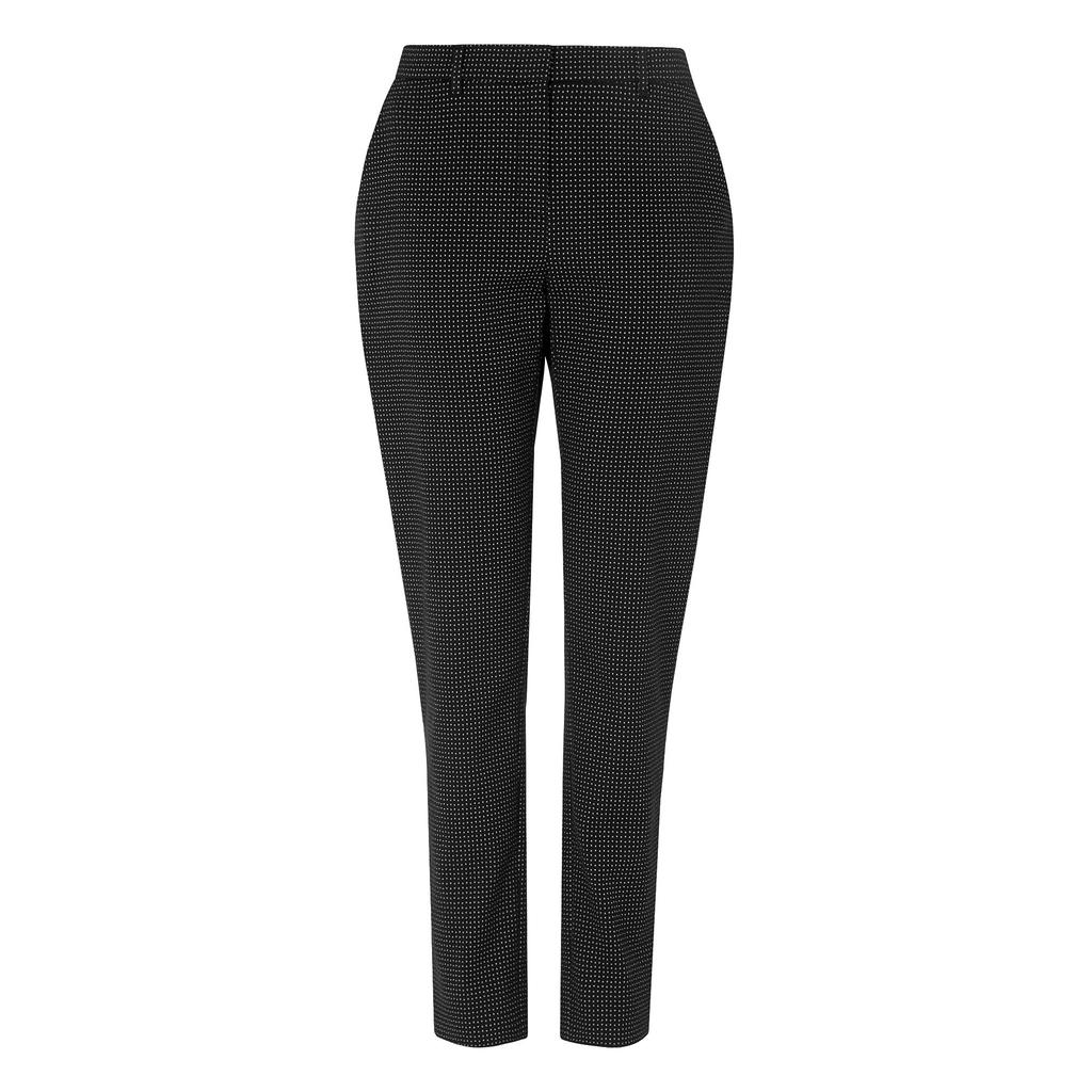 Carlotta Navy Trousers Blue Sloane Blue - length: standard; pattern: plain; waist: high rise; predominant colour: black; occasions: casual, work, creative work; fibres: polyester/polyamide - 100%; fit: slim leg; pattern type: fabric; texture group: woven light midweight; style: standard; season: s/s 2016; wardrobe: basic