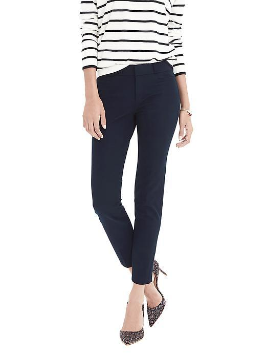 New Sloan Fit Slim Ankle Pant True Navy - pattern: plain; waist: mid/regular rise; predominant colour: navy; occasions: work; length: ankle length; fibres: cotton - 100%; texture group: cotton feel fabrics; fit: slim leg; pattern type: fabric; style: standard; season: s/s 2016; wardrobe: basic