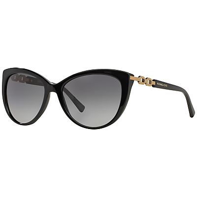 Mk2009 Gstaad Polarised Cat's Eye Sunglasses, Black - predominant colour: black; occasions: casual, holiday; style: cateye; size: standard; material: plastic/rubber; pattern: plain; finish: plain; season: s/s 2016; wardrobe: basic
