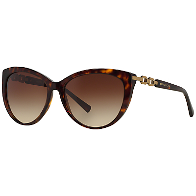 Mk2009 Gstaad Cat's Eye Sunglasses, Tortoise - predominant colour: chocolate brown; occasions: casual, holiday; style: cateye; size: standard; material: plastic/rubber; pattern: tortoiseshell; finish: plain; season: s/s 2016; wardrobe: basic