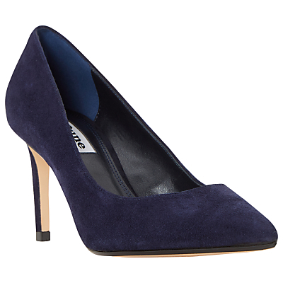 Abbigail Stiletto Heeled Court Shoes - predominant colour: navy; material: suede; heel: stiletto; toe: pointed toe; style: courts; finish: plain; pattern: plain; heel height: very high; occasions: creative work; season: s/s 2016; wardrobe: highlight