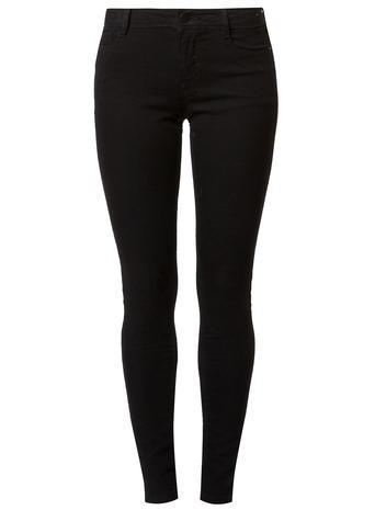 Womens Black 'bailey' Ultra Stretch Jeans Black - style: skinny leg; pattern: plain; waist: mid/regular rise; predominant colour: black; occasions: casual, creative work; length: ankle length; fibres: cotton - stretch; texture group: denim; pattern type: fabric; season: s/s 2016; wardrobe: basic